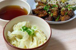 保護中: ヴィーガンめんつゆでご飯が進む!クリスピーみたらし豆腐